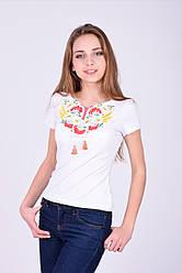 Белая футболка вышиванка с калиной