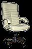 [ Кресло Orion H-17 + Подарок ] Офисное кресло с хромированными подлокотниками экологическая кожа бежевый
