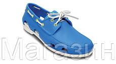 Мужские кроксы Crocs голубые, фото 3