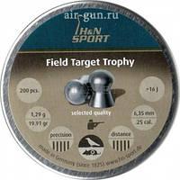 Пули пневм H&N Field Target Trophy 6,35 mm , 1.29 г, 200 шт/уп.