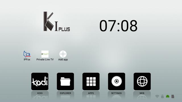 K1 plus Smart TV - Смарт ТВ на Андроид меню