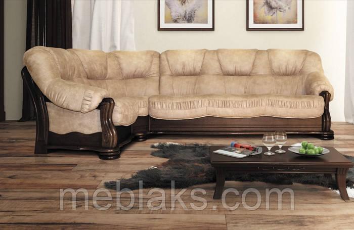 """Классический мягкий угловой диван со спальным местом """"Милан""""   Udin"""