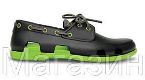 Мужские кроксы Crocs черные, фото 2