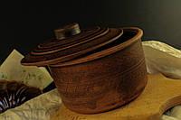 Кашник с крышкой, декорированный