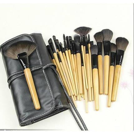Кисти набор кистей для профессионального макияжа Bobbi Brown 24 штуки в чехле реплика, фото 2