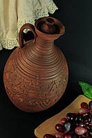 Кувшин для вина с крышкой, декор