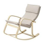 Кресло качалка тканевое