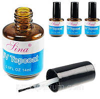 UV Top Coat Lina  топ верхнее покрытие для гель-лака, 14 мл ГО1103 /03-4