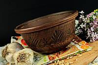 Пиала из красной глины, декор
