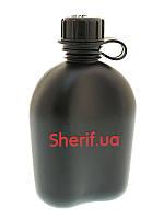 Фляга армейская пластиковая MIL-TEC 1Qt  14501001  Черная