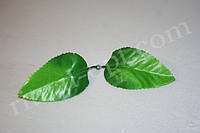 Искусственный шелковый лист лилии №5