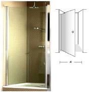 Frame to frame дверь распашная 90 см, лев/прав, проз/хром UDW0090SKA100V-61
