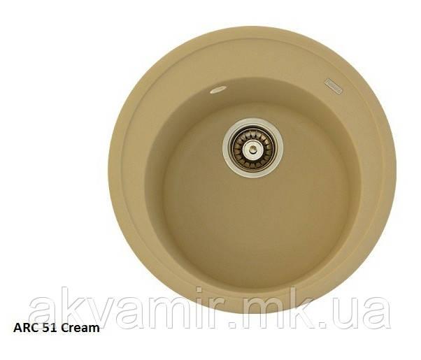 Мийка для кухні Fabiano Arc 51 Cream (кремовий)