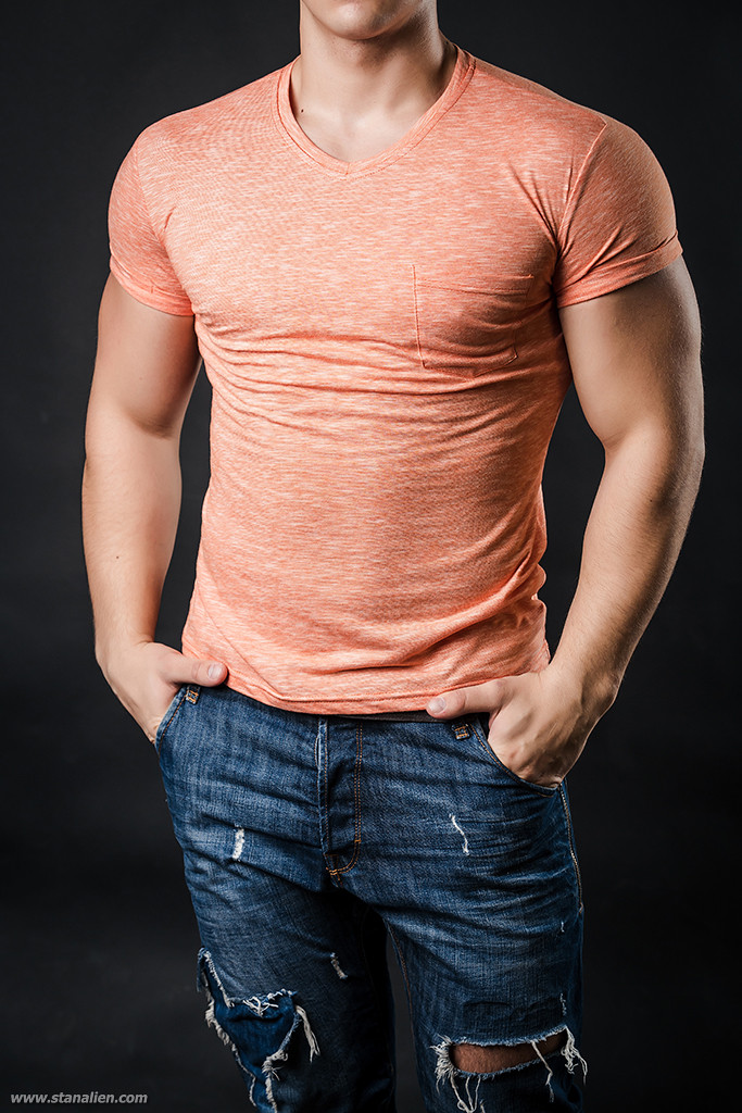 Bono Футболка мужская 000136 оранжевый меланж