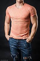 Футболка мужская оранжевый меланж, фото 1