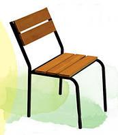 Удобный стул Рио для дачи, металл/сосна, размеры 455*560*800 мм