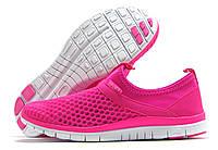 Кроссовки женские Sport без шнурков розовые