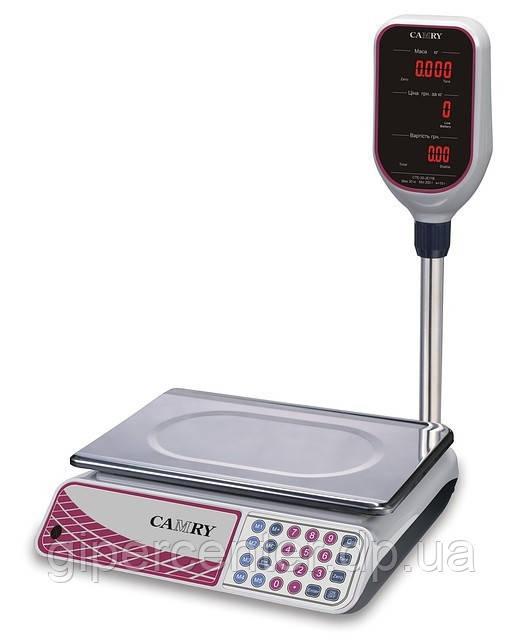 Торговые весы электронные со стойкой Camry CTE_J11B до 15 кг, точность 5 г