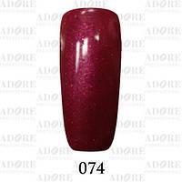 Гель-лак Adore Professional № 074 (тёмно-алый с микроблеском), 9 мл ADR/96
