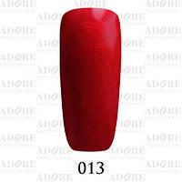 Гель-лак Adore Professional № 013 (красный с перламутром), 9 мл ADR/96
