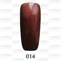 Гель-лак Adore Professional № 014 (коричневый с перламутром) 9 мл ADR/96