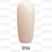 Гель-лак Adore Professional № 016 (молочный белый полупрозрачный), 9 мл ADR/96