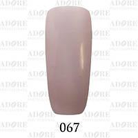 Гель-лак Adore Professional № 067 (пастельно-фиолетовый), 9 мл ADR/96