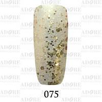 Гель-лак Adore Professional № 075 (золотые блёстки разного размера), 9 мл ADR/96