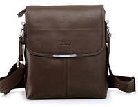 Кожаная сумка Polo Videng, темно-коричневая