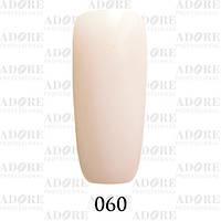 Гель-лак Adore Professional № 060 (бежевый френч с микроблеском) 9 мл /96