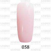 Гель-лак Adore Professional № 058 (розовый френч) 9мл /96