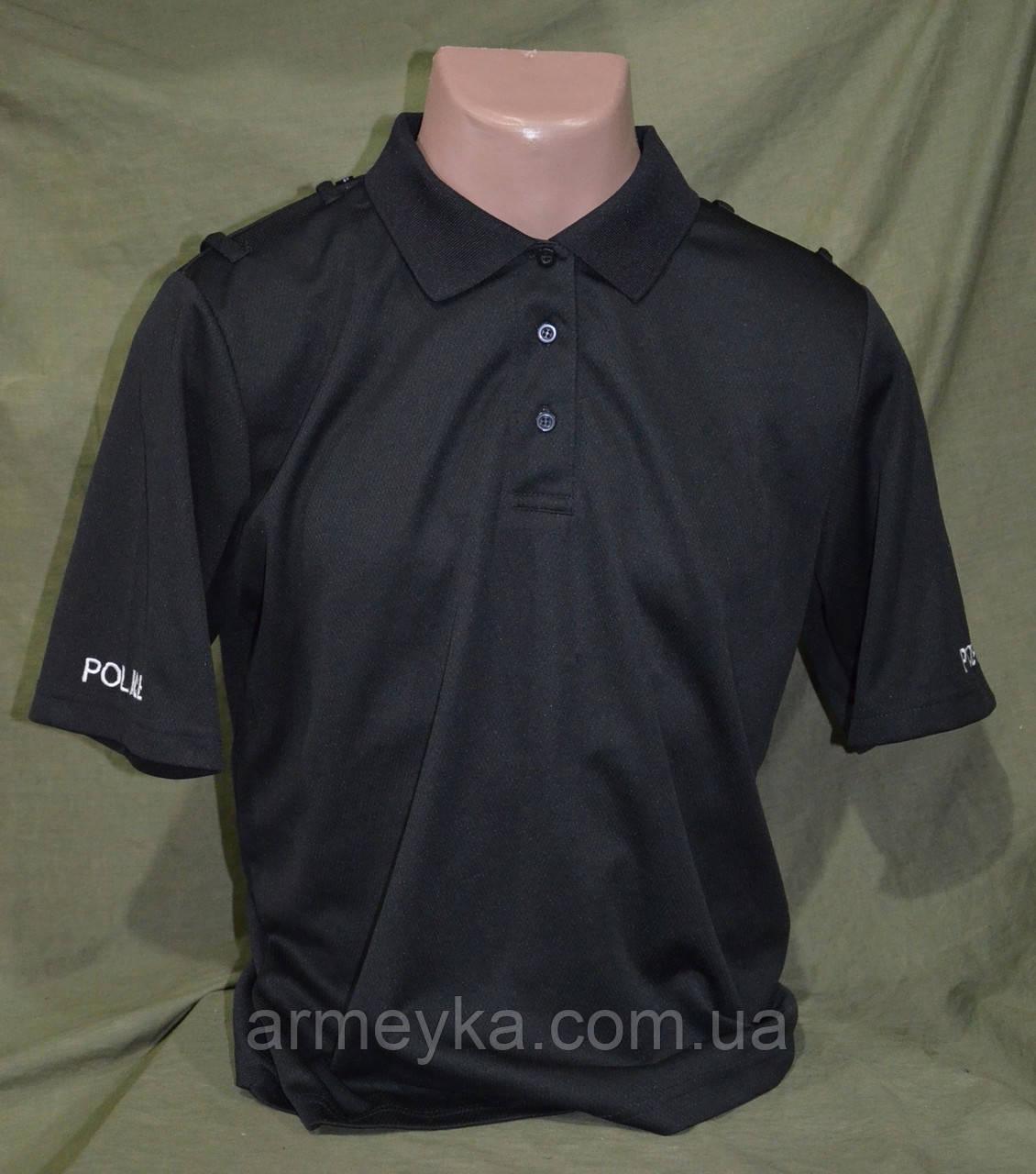 CoolMax футболка-поло полиции Великобритании ,  черная  оригинал