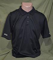 CoolMax футболка-поло полиции Великобритании ,  черная  оригинал, фото 1
