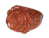 Красное кольцо из авантюрина