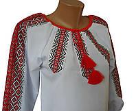 Дитяча вишиванка для дівчаток ткана нашивка, фото 1