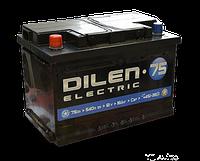 Аккумулятор DILEN 6СТ-75Ah/560A (+/-) (з-д Мегатекс)