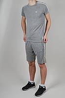 Летний спортивный костюм мужской Adidas 1613 серый