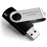 Usb 2.0 флеш goodram twister 16 Гб black clip (uts2-0160kkr11)