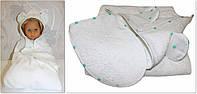 Махровая пеленка после купания и рукавичка