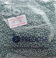 Бисер 10/0, цвет - бледно-голубой металлик, №18536 (уп.50 грамм)