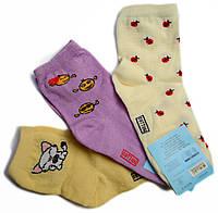 Носки детские хлопчатобумажные, для девочек (12 пар/уп., 600 пар/меш.)