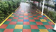Изготовление резиновой плитки для детской площадки.