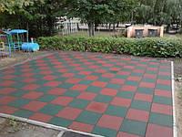 Плитка резиновая для пола и детских площадок, фото 1