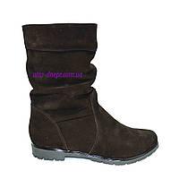 """Зимние женские коричневые ботинки замшевые на меху. ТМ """"Maestro"""""""