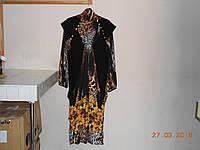 Выходное платье из купонной ткани
