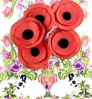 Красный мак - символ памяти жертв войны. Диаметр 6 см (товар при заказе от 200 грн)