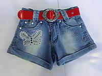Джинсовые модные шорты  для девочки 104/110