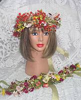 Лента-коса из латексных цветов, фото 1