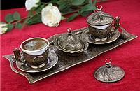Набор чашек для кофе Античная медаль Sena на 2 персоны, фото 1
