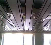 Металлический подвесной прямоугольный потолок
